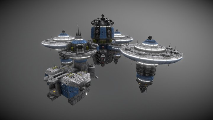 Icarus Space Station 3D Model