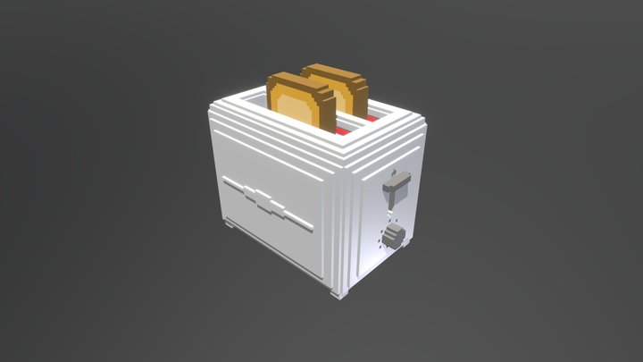 Toaster voxel 3D Model