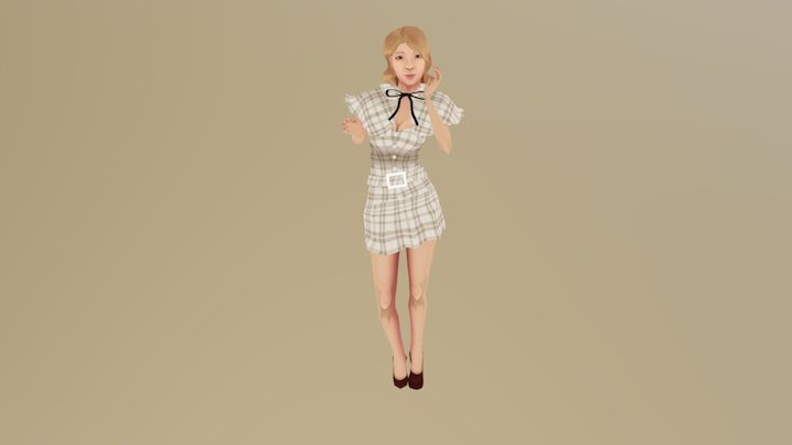 Choa AOA excuse me.ver low poly 3D Model