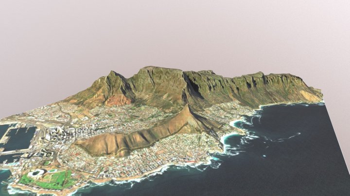 Table Mountain (1:50,000 Scale) 3D Model