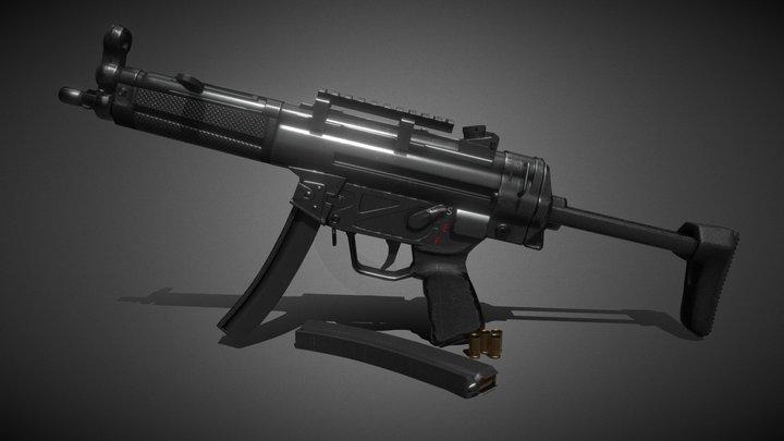 НК МР5А3 Game ready 3D Model