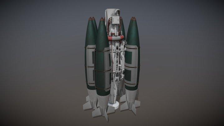 Rotary Bomb Launcher 3D Model