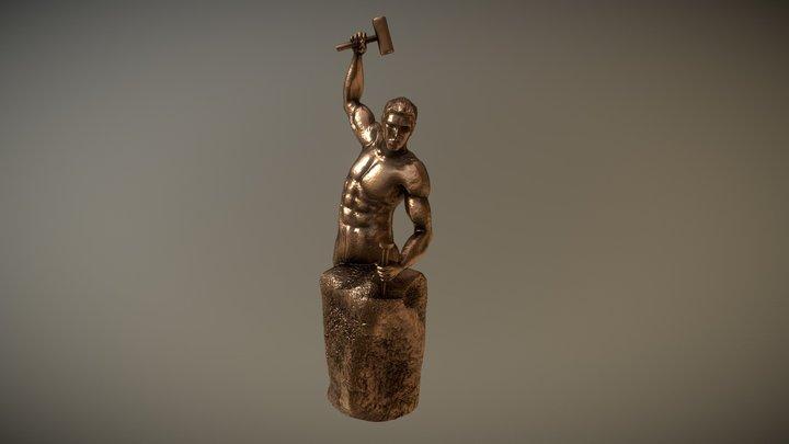 man sculpting himself 3D Model