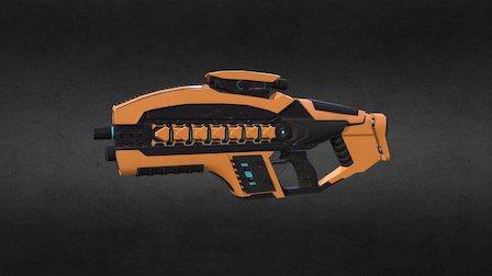 Rifle - Mech Hunter 3D Model