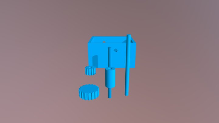 Gears and gearbox 3D Model