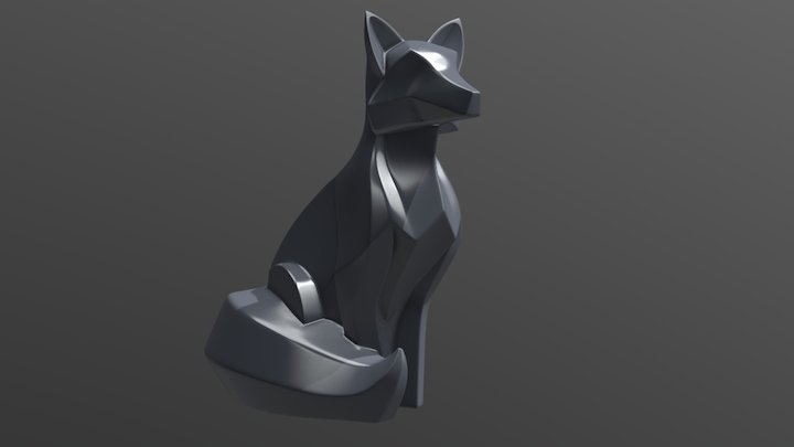 Fox Sculpture 3D Model