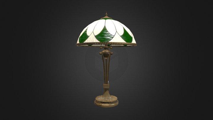 Antique Table Lamp 001 (Low Poly) 3D Model