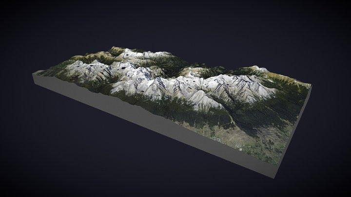 Vysoké Tatry (High Tatras) 3D Model