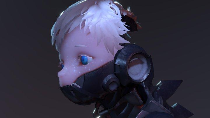 cyborg boy 3D Model