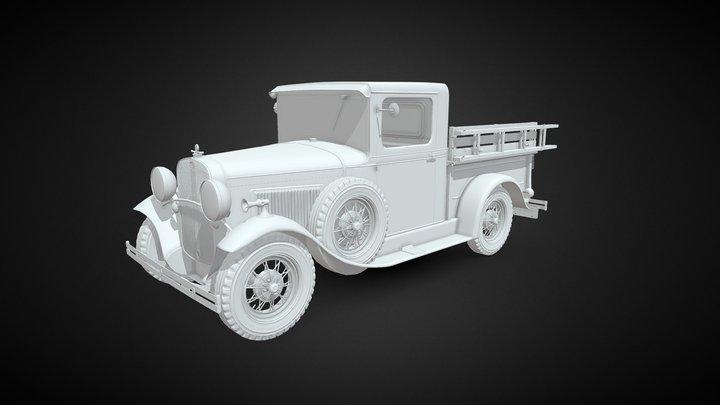 Old Firetruck 1930 3D Model