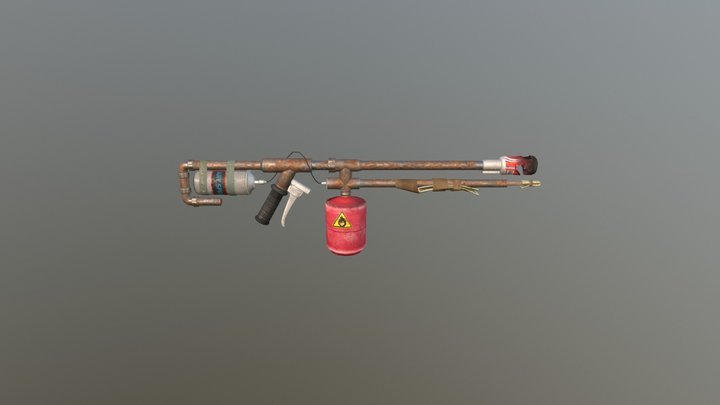 Flamethrower 3D Model