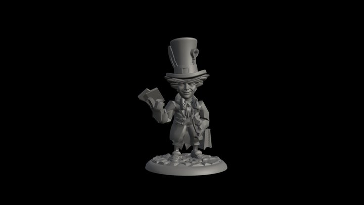 Mad Hatter The Illusionist 3D Model