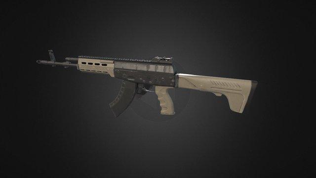 AK-12 (PBR) 3D Model