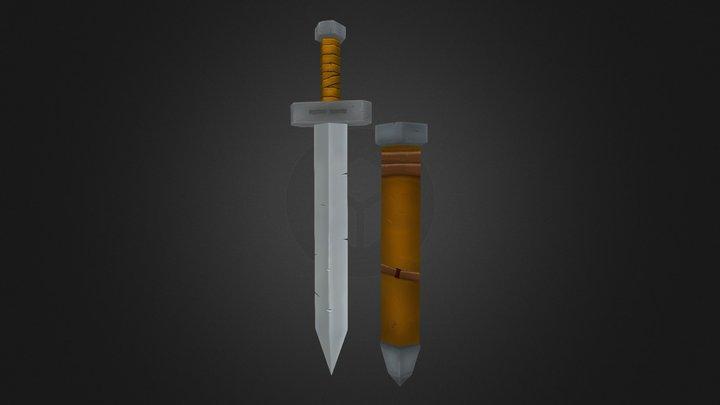 Sword and Sheath 3D Model