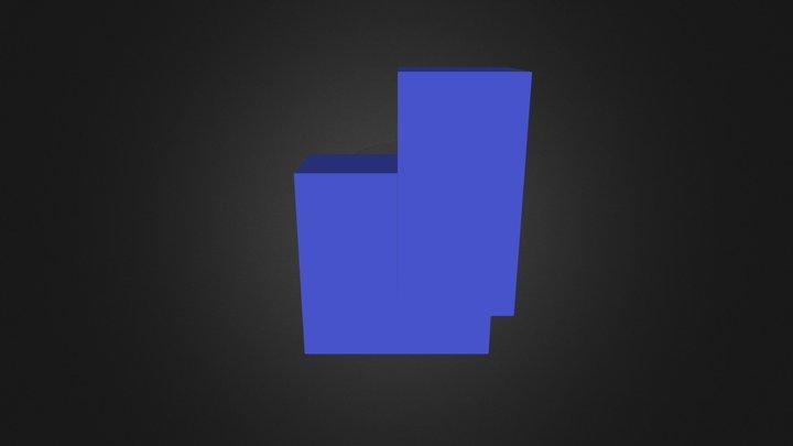 Blue Puzzle Part 3D Model