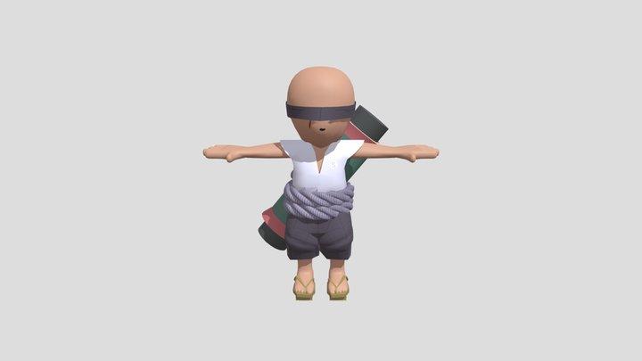 Bald Shinobi 3D Model