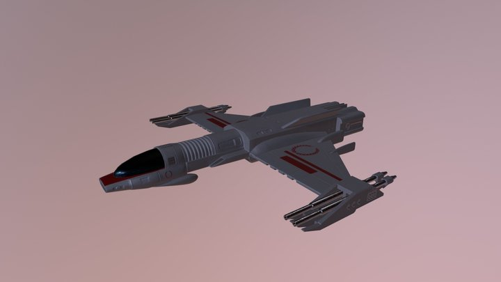 Starfighter from Imperium Galactica 3D Model