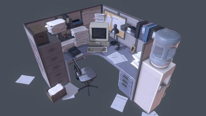 Office Props Pack 3D Model
