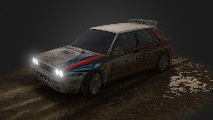 WRC Lancia Hf integrale 3D Model