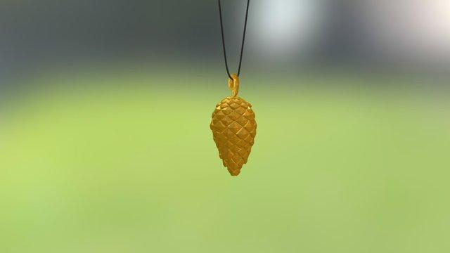 Pine Cone Donguri Decorations 3D Model