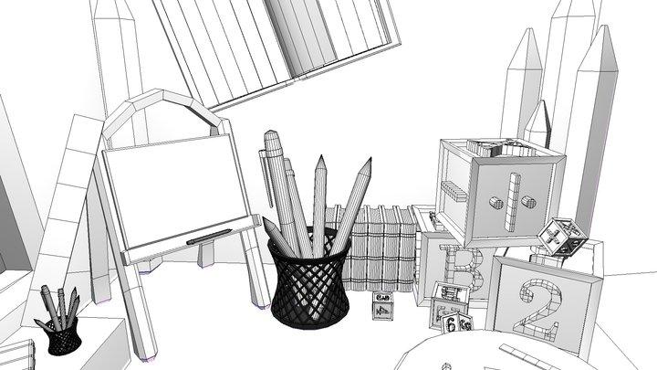 360 Classroom 3D Model