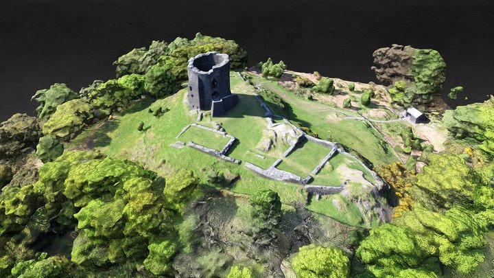 Castell Dolbadarn, Snowdonia 3D Model