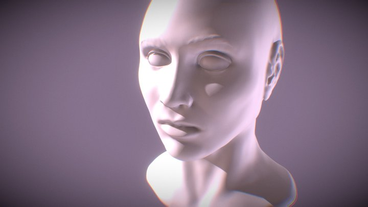 high poly head - WIP 3D Model