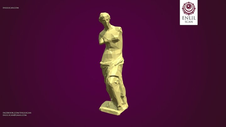Polygonal Venus Statue - Low Poly 3D Model
