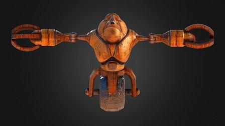 Cyborg Robot 3D Model