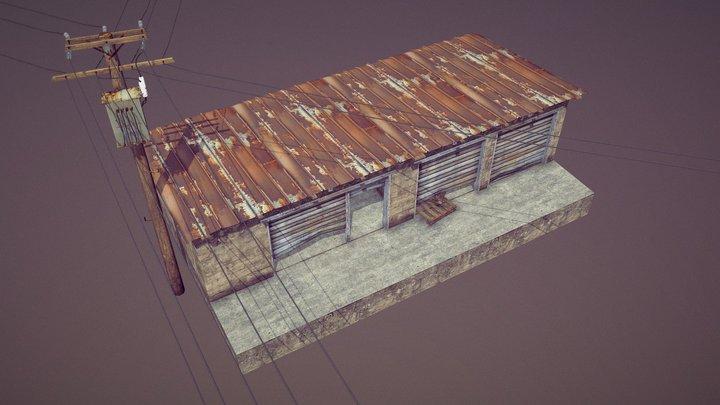 Storage Building 01 3D Model