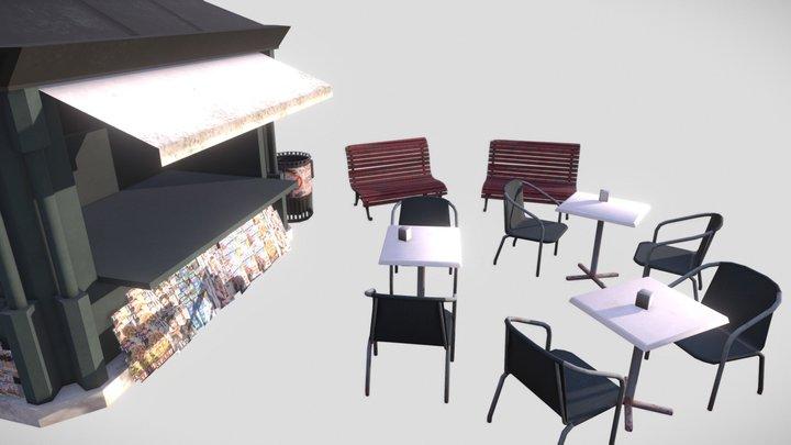 Venice - Props Scene 3D Model