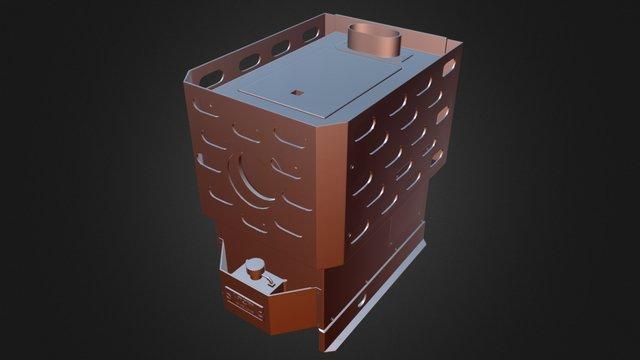 Dickenson Lofoten - floor mounted diesel stove 3D Model
