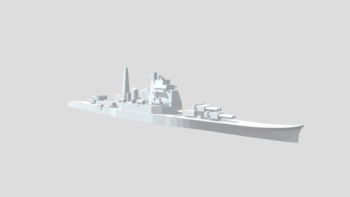 IJN Chokai/ Maya - Model for 1/4000 printing 3D Model