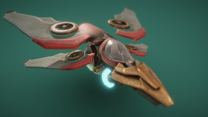 FREE Space Ship_WIP 3D Model
