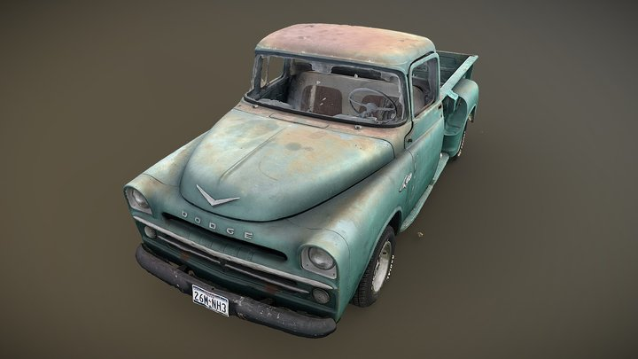 1957 Dodge Truck (photogrammetry scan) 3D Model