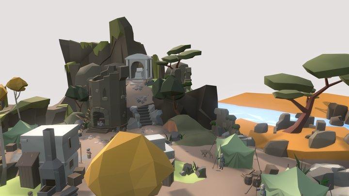 Desert ruins #MedievalRemixChallenge 3D Model