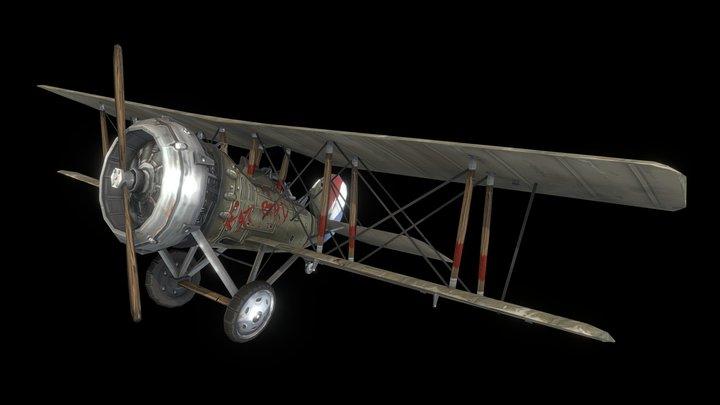 Salmson 2 A2 Plane - WWI 3D Model