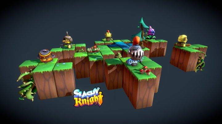 Slashy Knight - Characters - Animated Diorama 3D Model