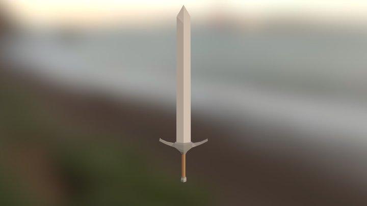 Lowpoly Bastard Sword (Practise) 3D Model