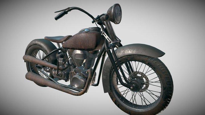 Rusty Motorbike 3D Model