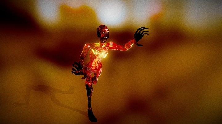 Zombie: The Burnt 3D Model
