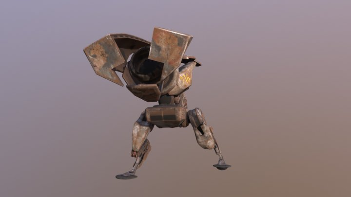 Robotic T-Rex Shooting Animation 3D Model