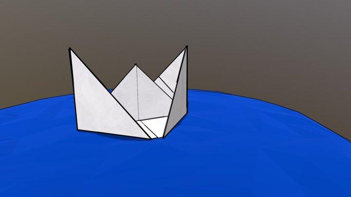 Cartoon Paper Boat 3D Model
