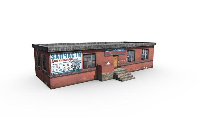 Car shop 3D Model