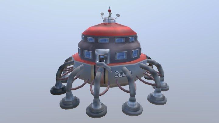 Luna Lander 3D Model