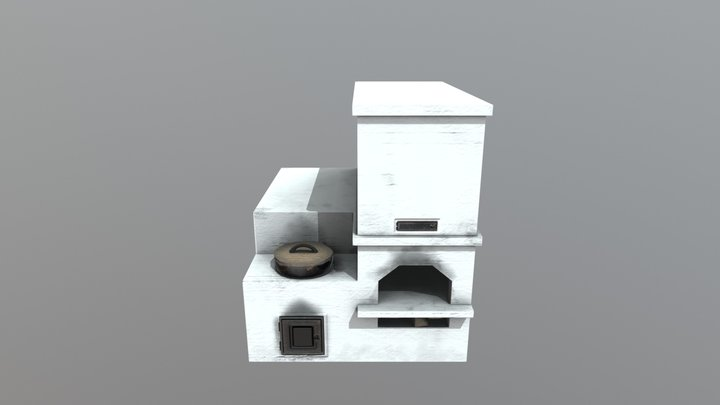 Wood-fired oven 3D Model