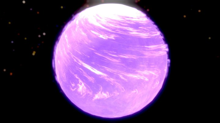 Purple Planet 3D Model