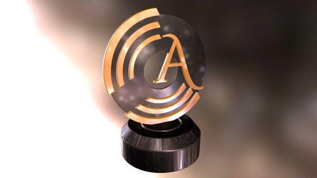 Teatro del Silenzio Award Trophy 3D Model
