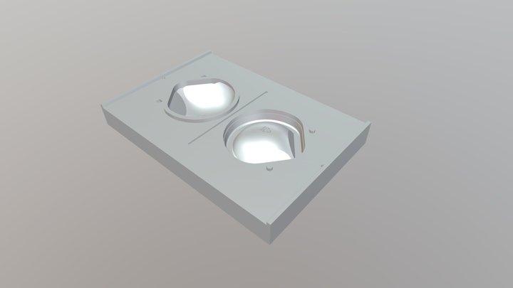 Molde ETESA 3M Clamshell Mascarilla 3D Model