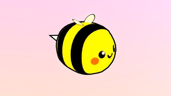Bee LowPoly 3D Model